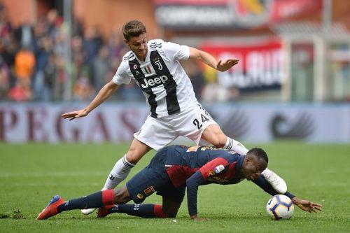 Rugani in action for Juventus