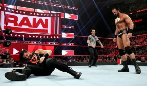 roman reigns didn't appear on this raw because of drew mcintyre