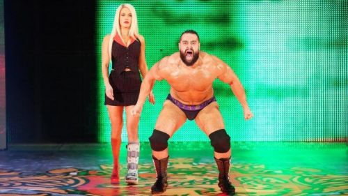 Rusev with Lana