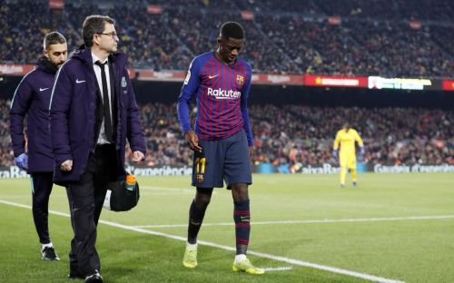 FC Barcelona's Ousmane Dembele out on injury