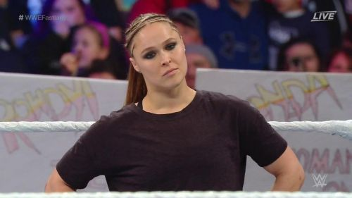 Why did Rousey interfere in the Charlotte vs. Becky match?