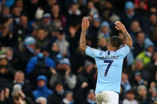 Sterling has been in good form for Manchester City this season