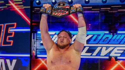 Samoa Joe as the new US Champion