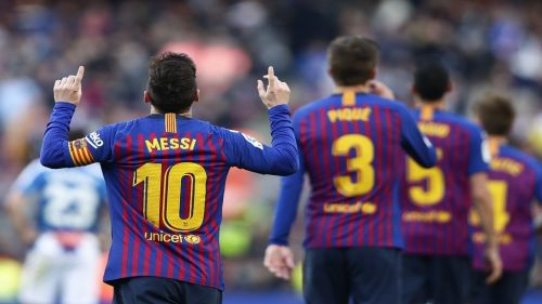 Messi's brace in the second half saw his side win the match