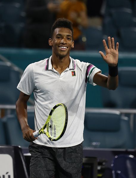 Felix Auger-Aliassime at Miami Open 2019 - Day 10