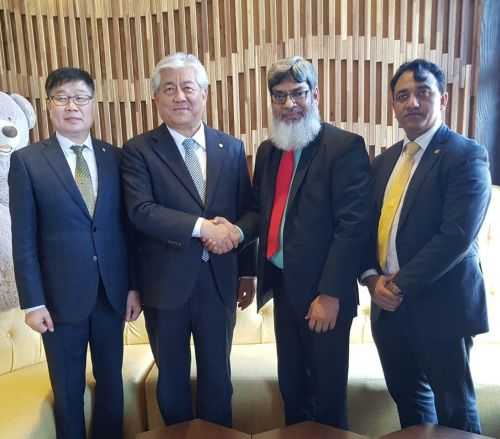 Chairman Mr. Khalil Ahmed Khan and Rapporteur Mr. Shammi Rana with Mr. Lee Sand Member Parliament of Ulsan, Republic of South Korea.