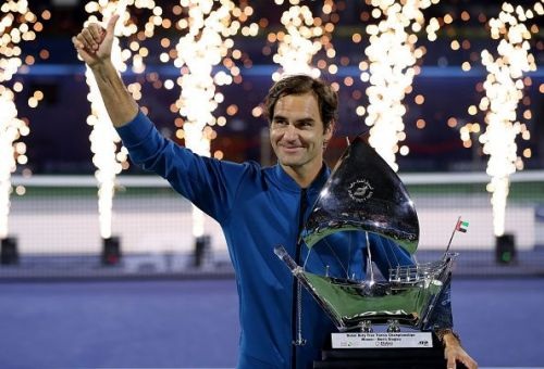 Federer recently won his 100th ATP title in Dubai