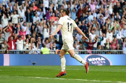 Gareth Bale after scoring against Celta Vigo