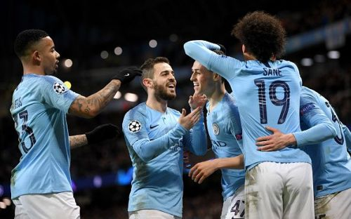 The list is dominated by Manchester City players