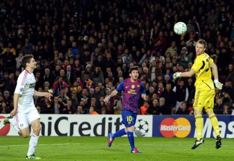Just one out of the five: Lionel Messi scored a record five goals in a single Champions League game