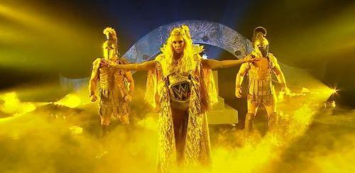 Charlotte's entrance at WrestleMania 34