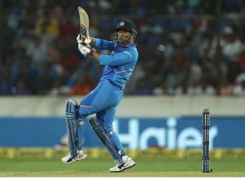 Mahendra Singh Dhoni- first One Day International against Australia at Hyderabad.