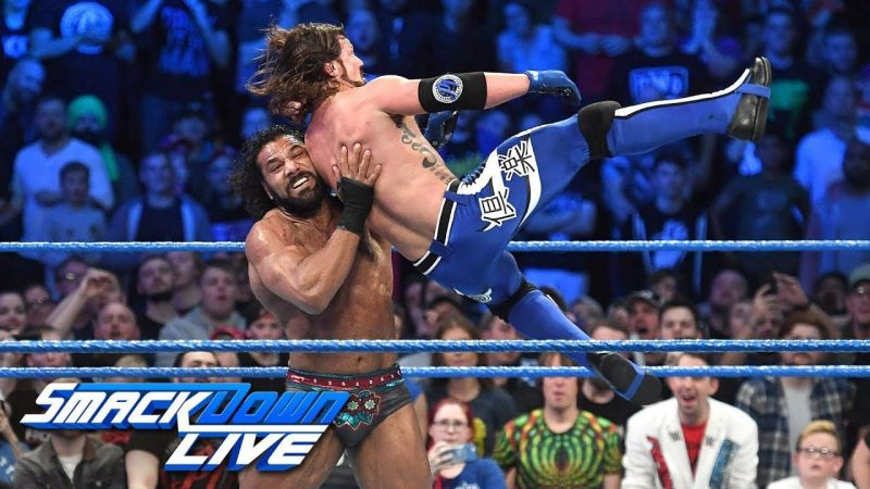 After a shocking title reign, Mahal lost the WWE Championship to AJ Styles.