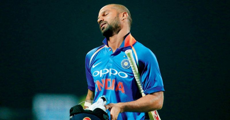 Shikar dhawan worst Shot selection. Last 15 Innings he scored only 1 half century. He is now Bad Batting Form