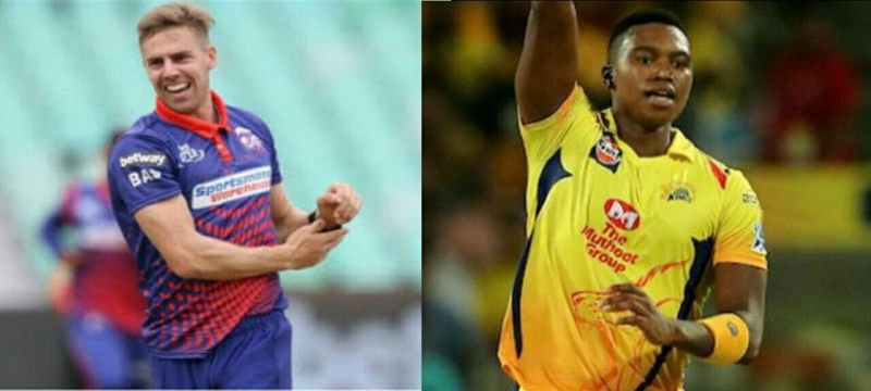 Kkr pacer Anritch nortje & csk Pacer Lungi ngidi Both are miss this ipl season due to an injury