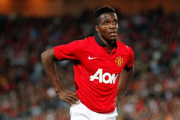 Wilfried Zaha in Manchester United colours