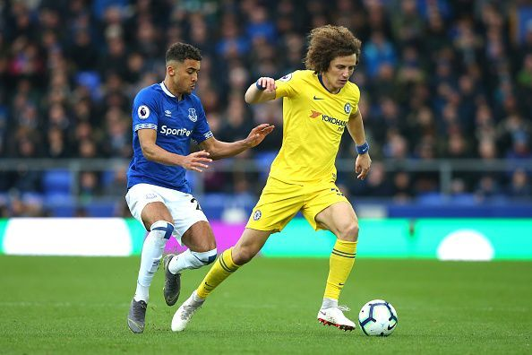Luiz struggled as Everton grew in confidence as the second-half began