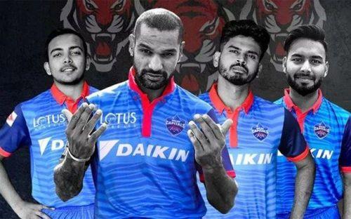 New look Delhi Capitals team