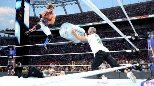 Styles and Shane O'Mac had a dog fight at WrestleMania