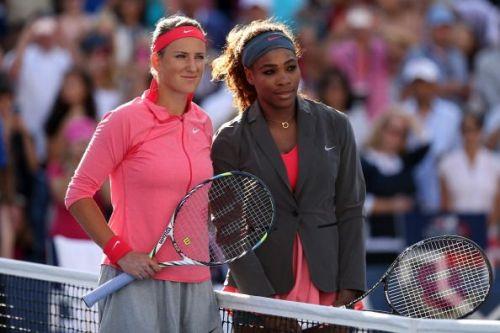 Serena and Azarenka at 2013 US Open - Day 14