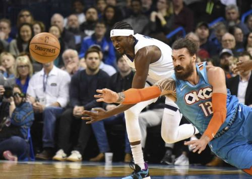 Steven Adams is averaging a career-high in rebounds this season so far.