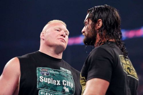 Rollins faces off against Brock Lesnar at WrestleMania 35
