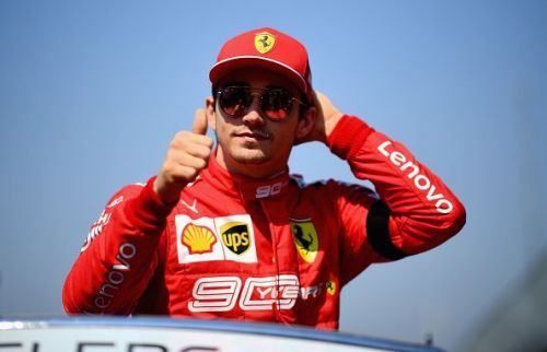Charles Leclerc in his first race as a Ferrari driver. Big day for Jules Bianchi's Godson.