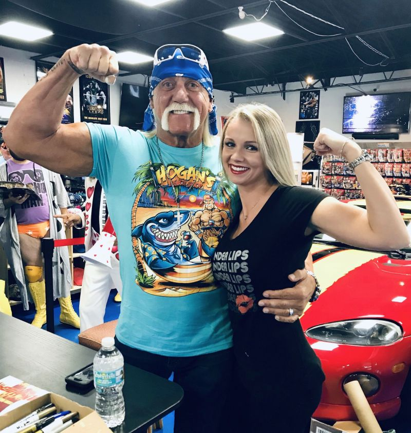 Hulk Hogan with Jeanette Horning (Photo courtesy of Jeanette Horning)