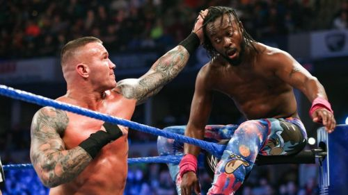 Randy Orton hoped to crush the dreams of the New Day as one of Kingston's five gauntlet match opponents