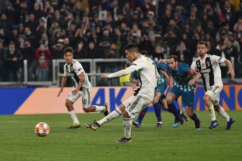 Ronaldo scores from the spot against Atletico Madrid