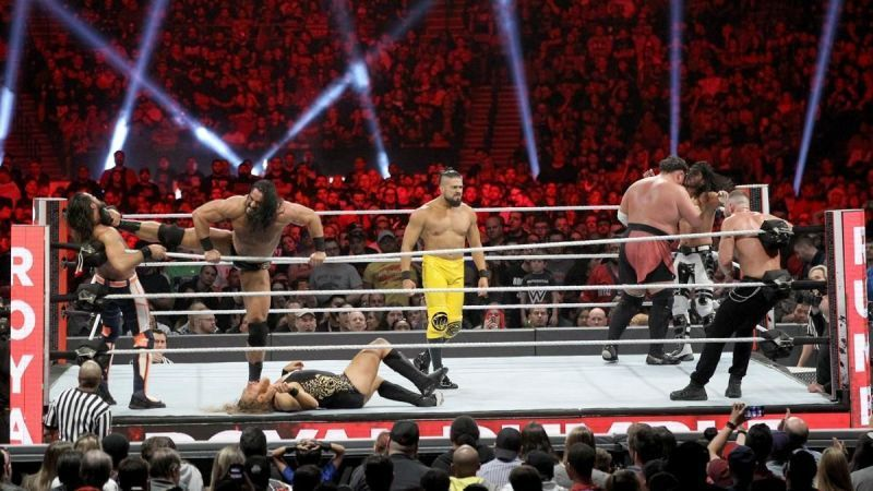 Andrade in the Royal Rumble.