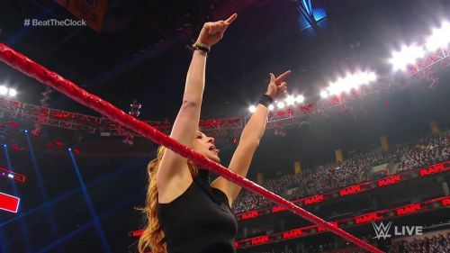 Becky Lynch after her victory tonight.