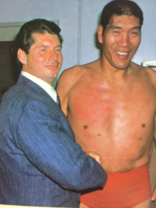 Vince McMahon and Giant Baba circa early 1980s