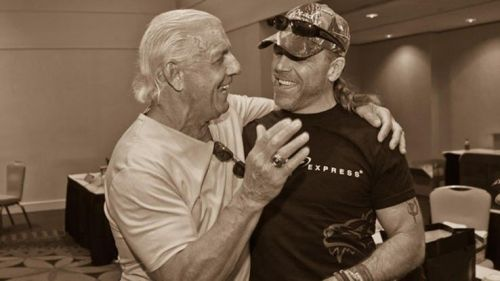 Shawn Michaels with Ric Flair.