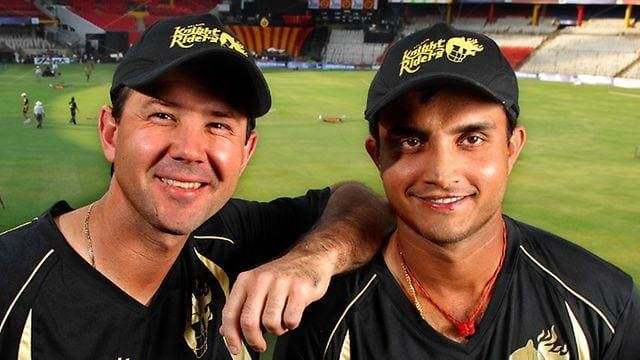 Sourav Ganguly and Ricky Ponting ahead of IPL 2008.