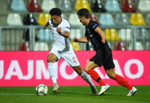 With Marcus Rashford injured, Jadon Sancho could make his first competitive start for England