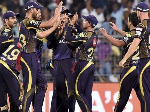 KKR's bowlers pegged back things in the last few overs