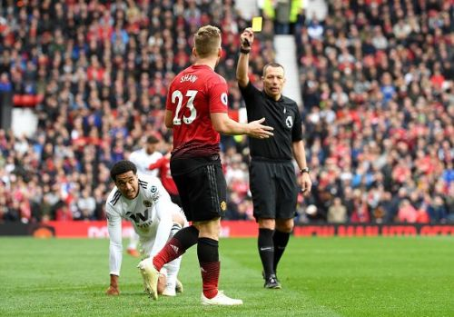 It's now 9 yellows for the season for Shaw