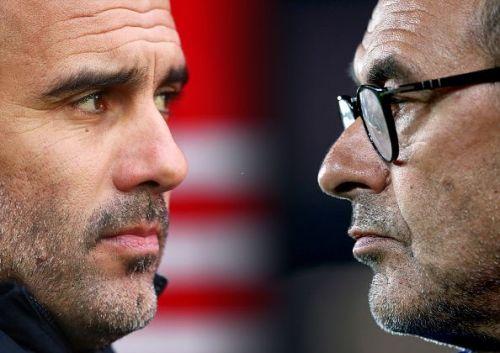 Pep Guardiola and Maurizio Sarri