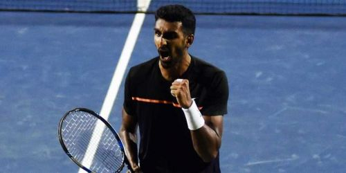 Prajnesh Gunneswaran moves into the second round of Indian Wells after defeating Benoit Paire of France