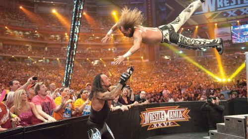 WrestleMania 26 featured a number of interesting confrontations. Enter caption