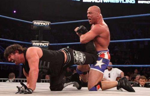 kurt angle and aj styles TNA