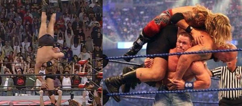 Cena and Goldberg displaying an incredible amount of strength