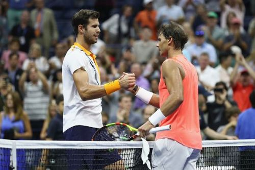 Nadal and Khachanov at 2018 US Open - Day 5