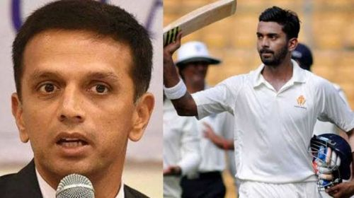 Dravid and KL Rahul