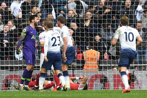 Lloris roars after thwarting Aubameyang's penalty to save a valuable point for Spurs