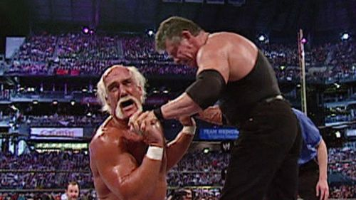 Hulk Hogan vs. Mr. McMahon was a fun match with an iconic aftermath.