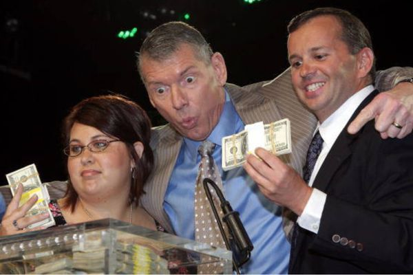 Vince McMahon is a rich man - a very, very rich man!