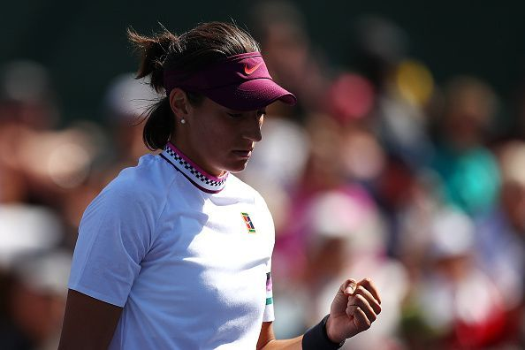 Caroline Garcia was all over her serve but had to earn the win over Victoria Azarenka at the Miami Open