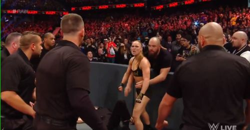 Ronda Rousey and Travis Browne had a few problems on WWE RAW